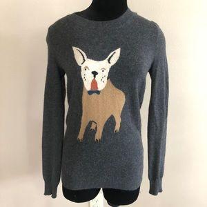 J. Crew Gray French Bulldog Frenchie Sweater